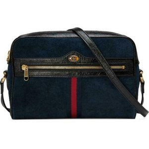 Gucci Crossbody Ophidia Small Suede Blue Shoulder